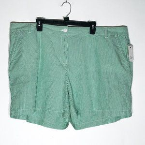 Crown & Ivy Shorts Womens Plus Size 24W Green